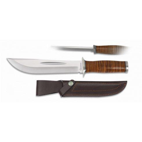 Tactical knife ALBAINOX leather vadászkés