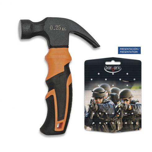 BARBARIC Mini-hammer Black/orange 16 cm mini kalapács